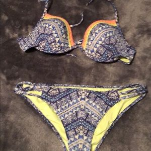 Victoria Secret swim suit too 34C bottom medium.